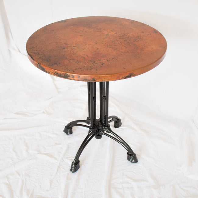 Potosi Round Copper Bistro Table Small