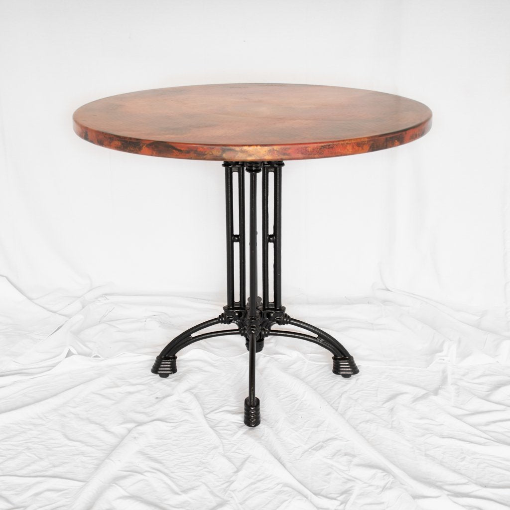 Potosi Round Copper Bistro Table Large