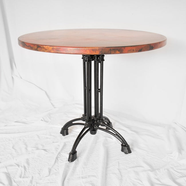 Artesanos Potosi Round Copper Bistro Table