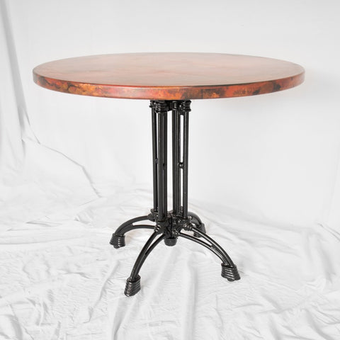 Spider Round Dining Table - English Brown Oak