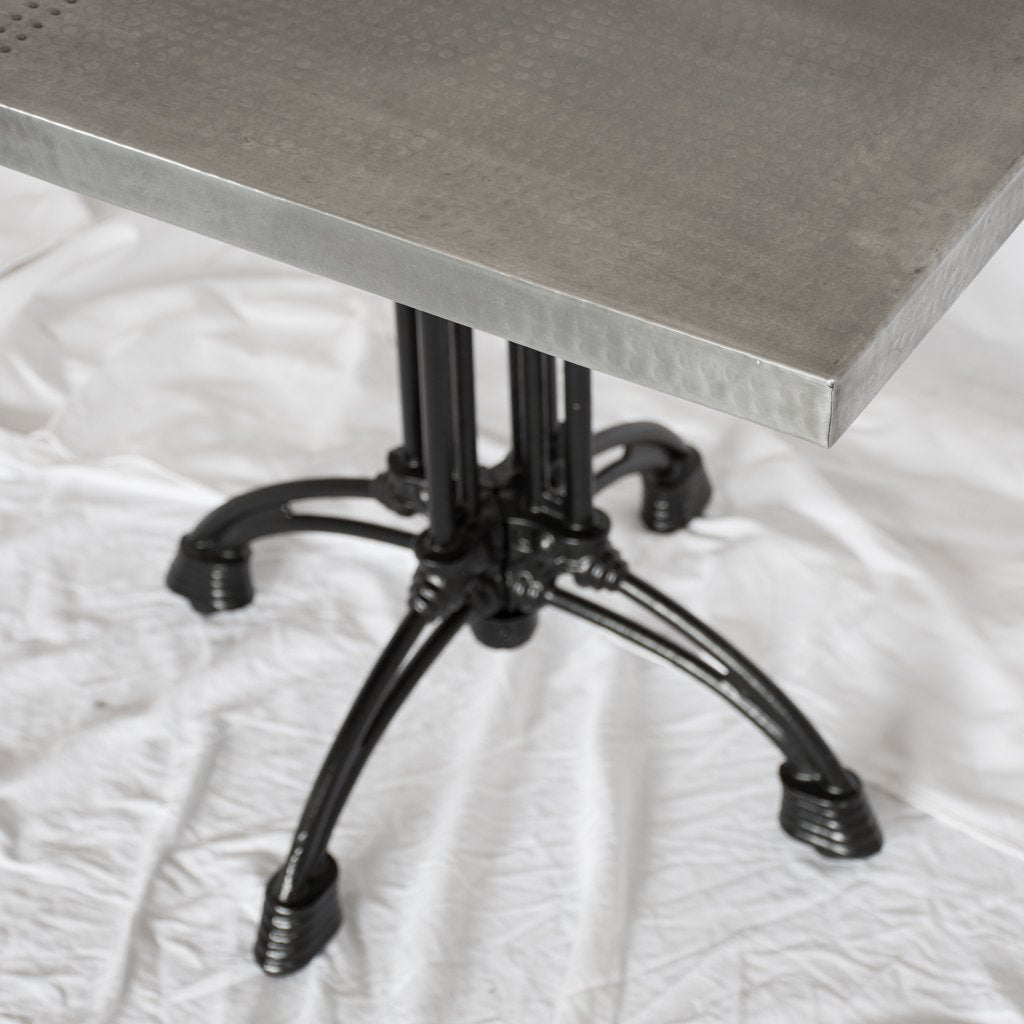 Potosi Square Zinc Restaurant Table Artesanos Design Collection