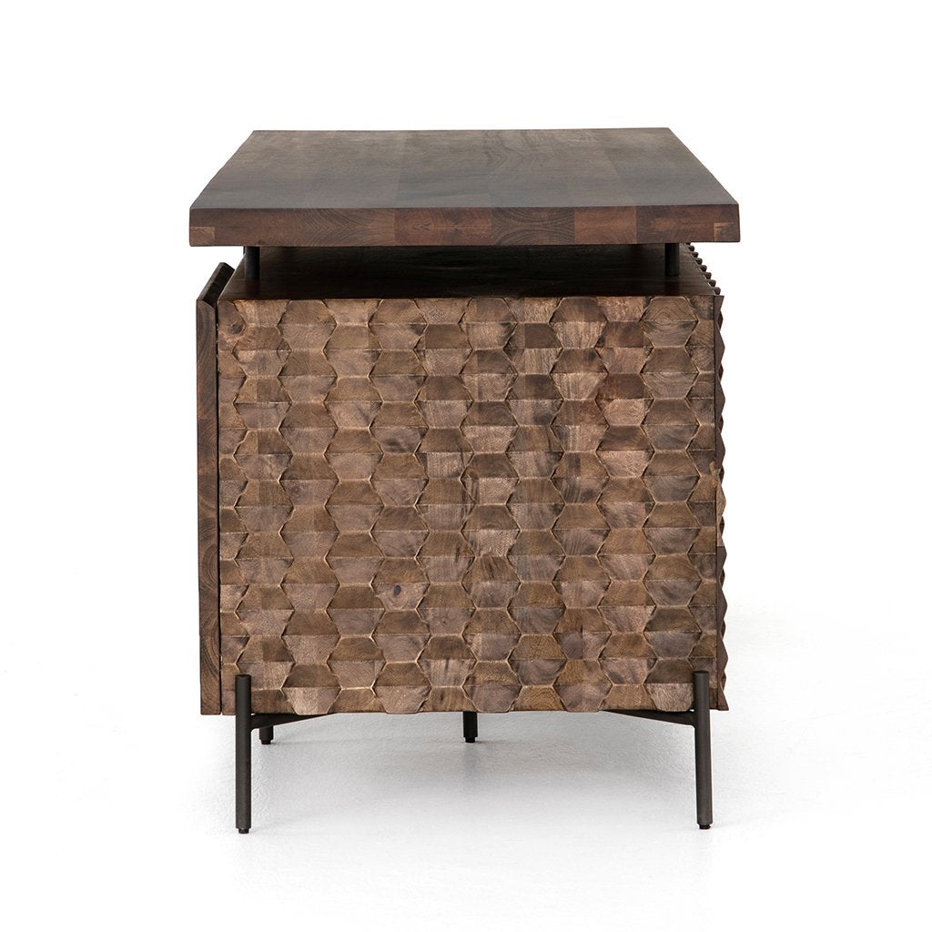 Raffael Modern Carved Wood Desk IFAL-040