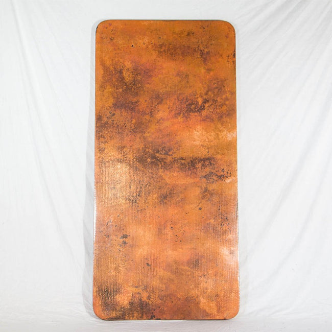Hammered copper tabletop rectangle