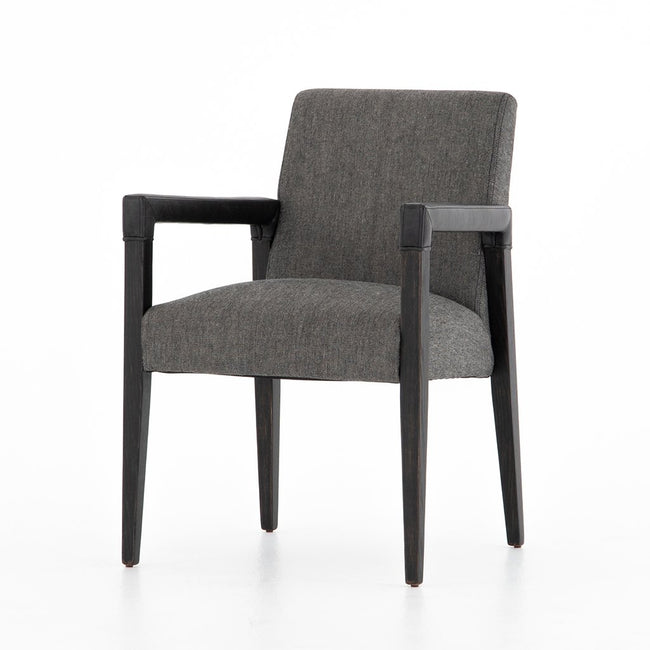 Reuben Ives Black Dining Chair - Four Hands Furniture CABT-9174068-309