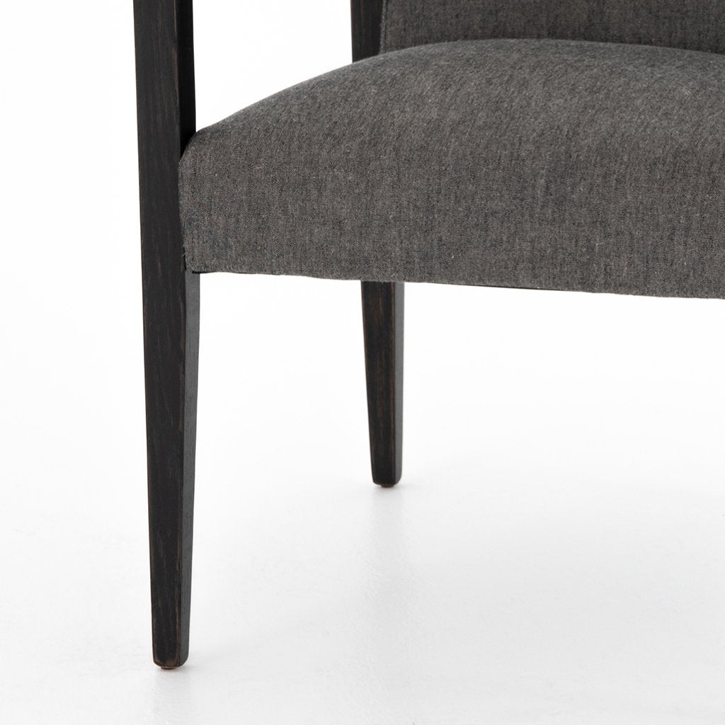Reuben Ives Black Dining Chair - Four Hands Furniture CABT-9174068-309 Seat Detail