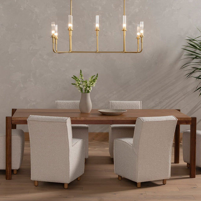 Four Hands Reza Dining Table - Smoked Honey