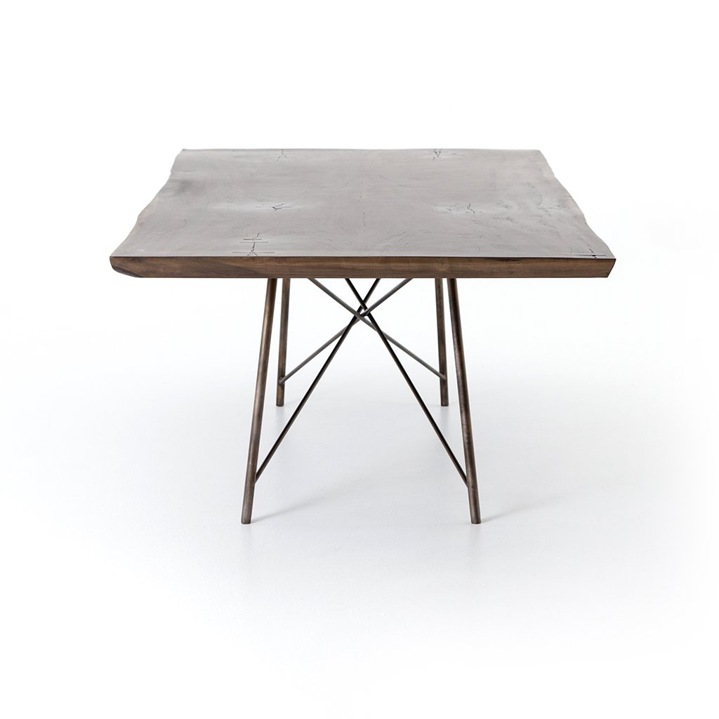 Rocky Dining Table - Smoked Saman Four Hands Furniture