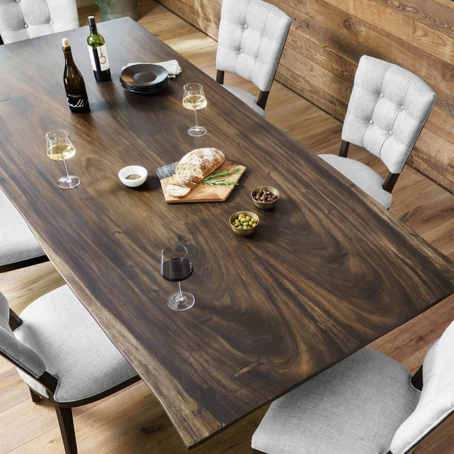 Four Hands Rocky Dining Table - Smoked Saman