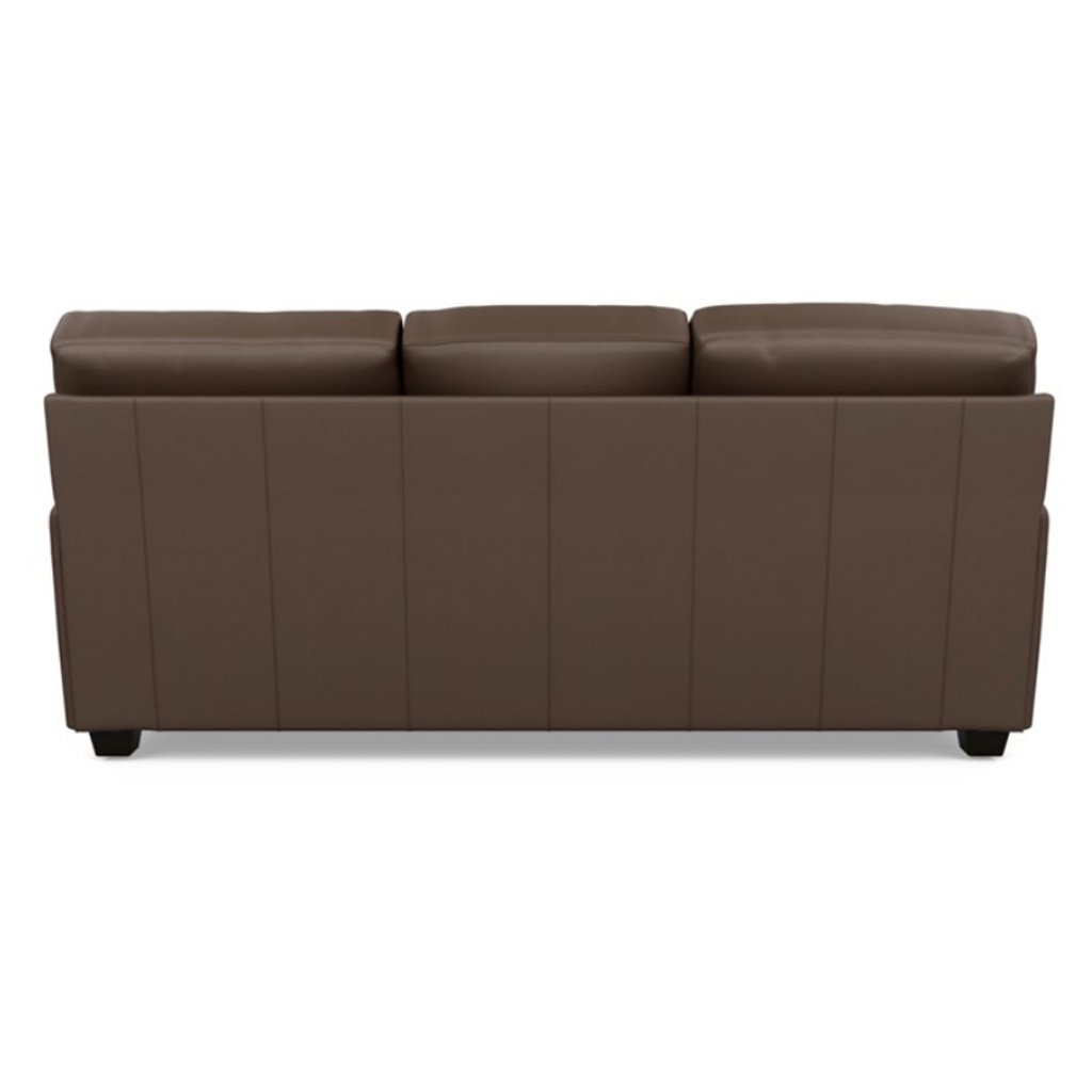 Back view of Savoy Leather Three Seat Sofa
