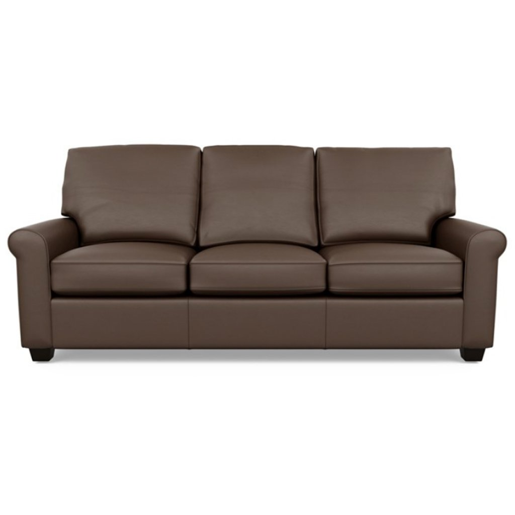 Savoy Leather Sofa by American Leather in Bali Brandy