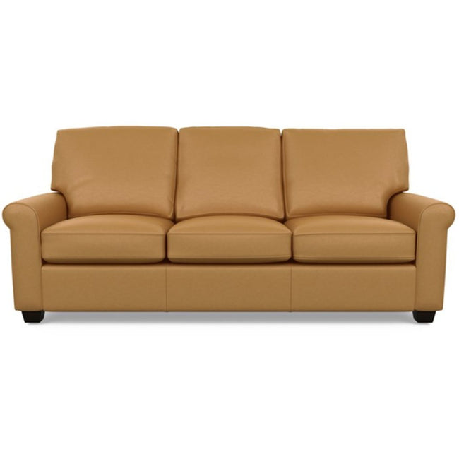Savoy Leather Sofa by American Leather in Bali Butterscotch