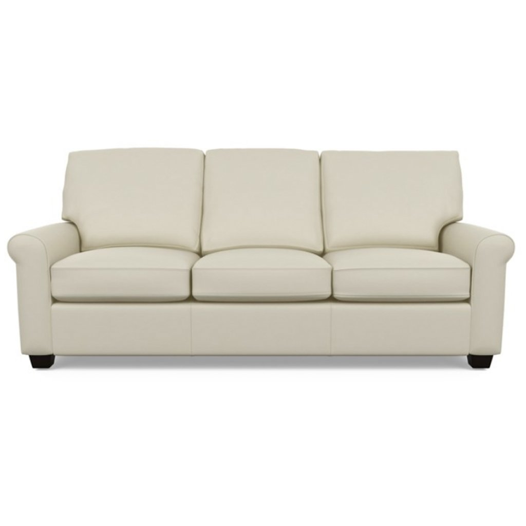 Savoy Leather Sofa by American Leather in Bali Cream