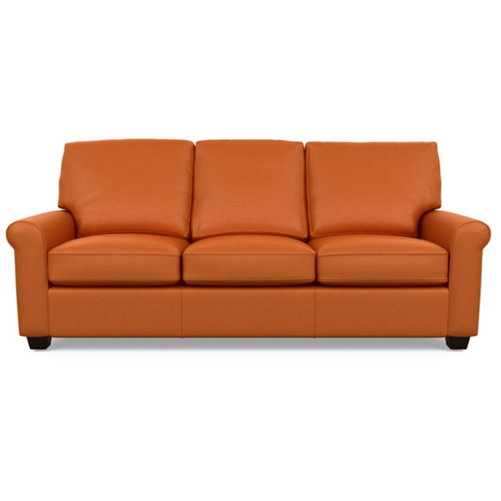 Savoy Leather Sofa by American Leather in Bali Marigold