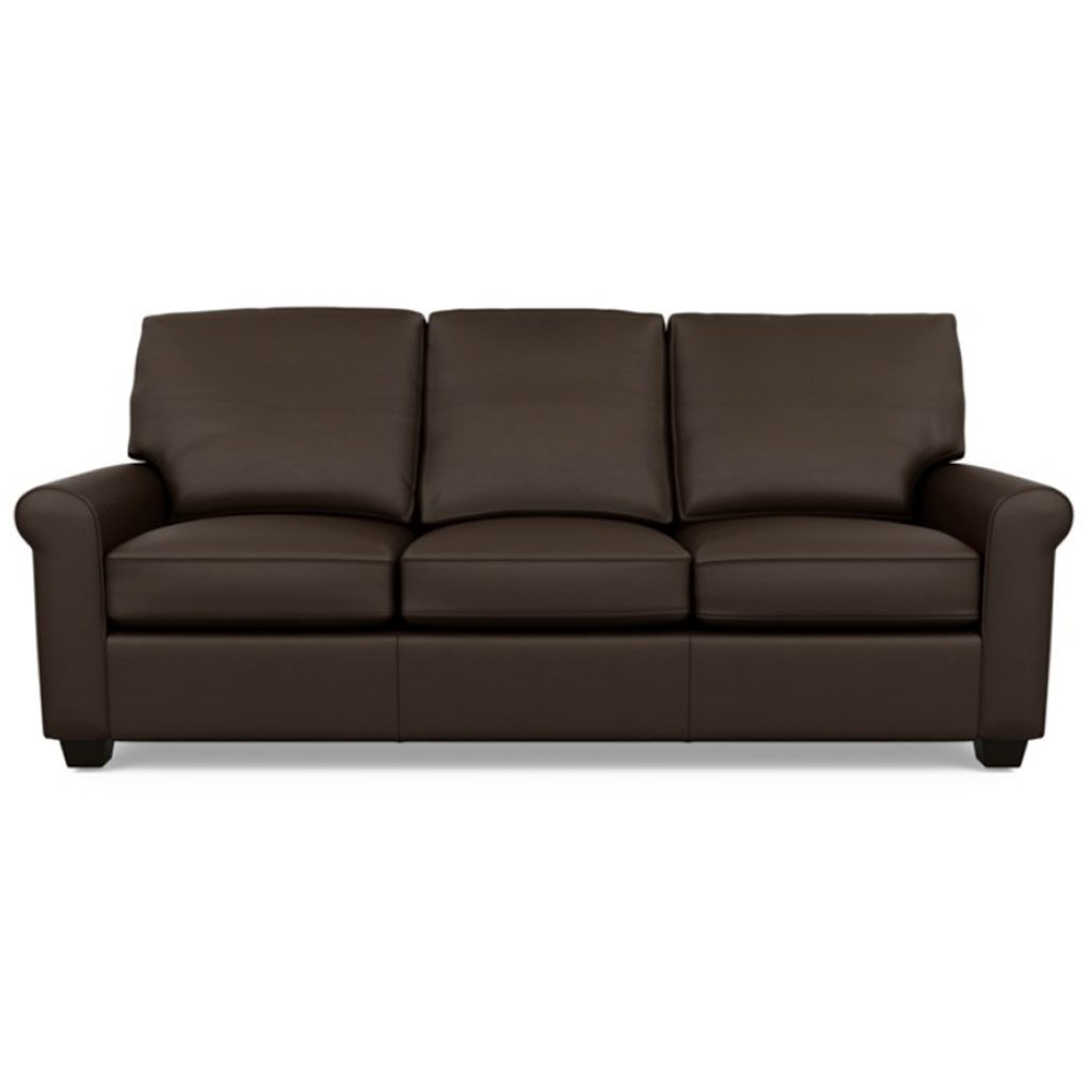 Savoy Leather Sofa by American Leather in Bali Mocha