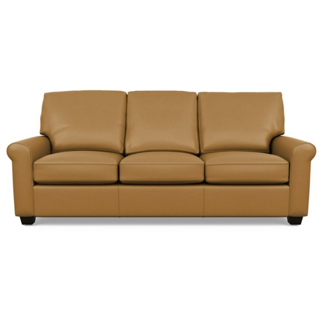 Savoy Leather Sofa by American Leather in Capri Butterscotch