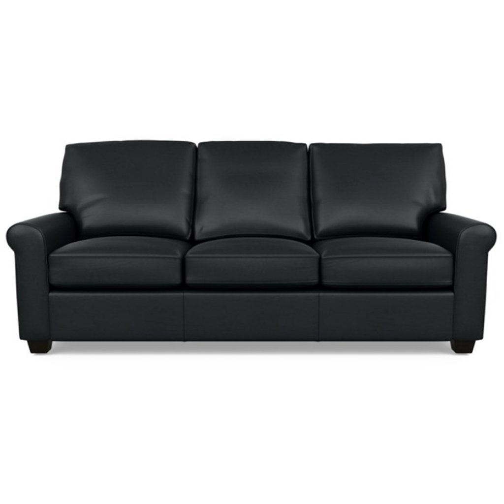 Savoy Leather Sofa by American Leather in Capri Onyx