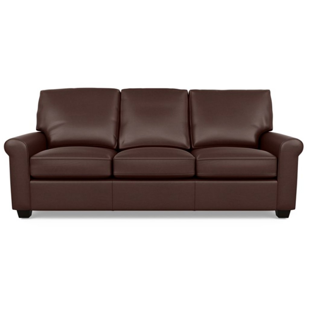 Savoy Leather Sofa by American Leather in Capri Russet