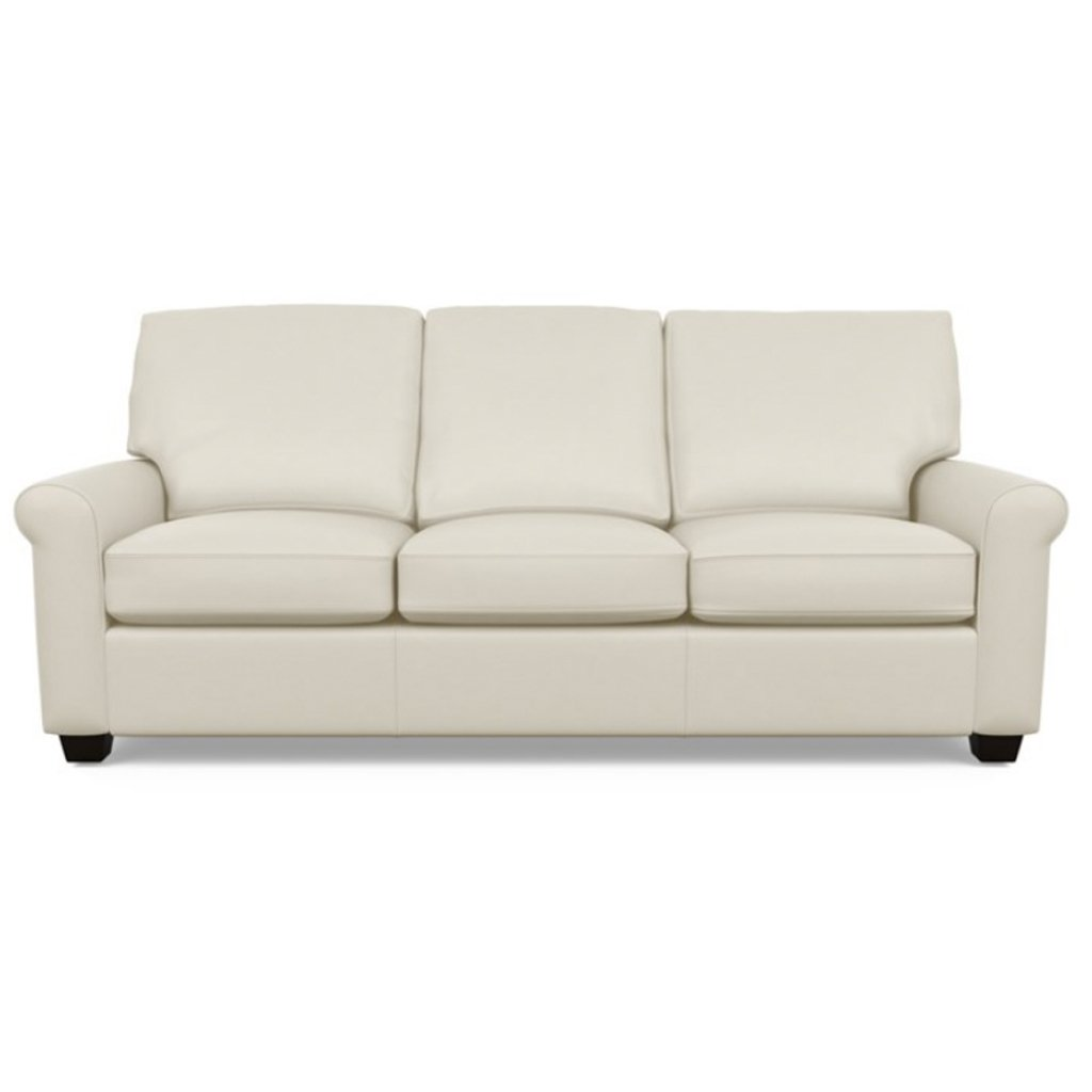 Savoy Leather Sofa by American Leather in Capri Sand Dollar
