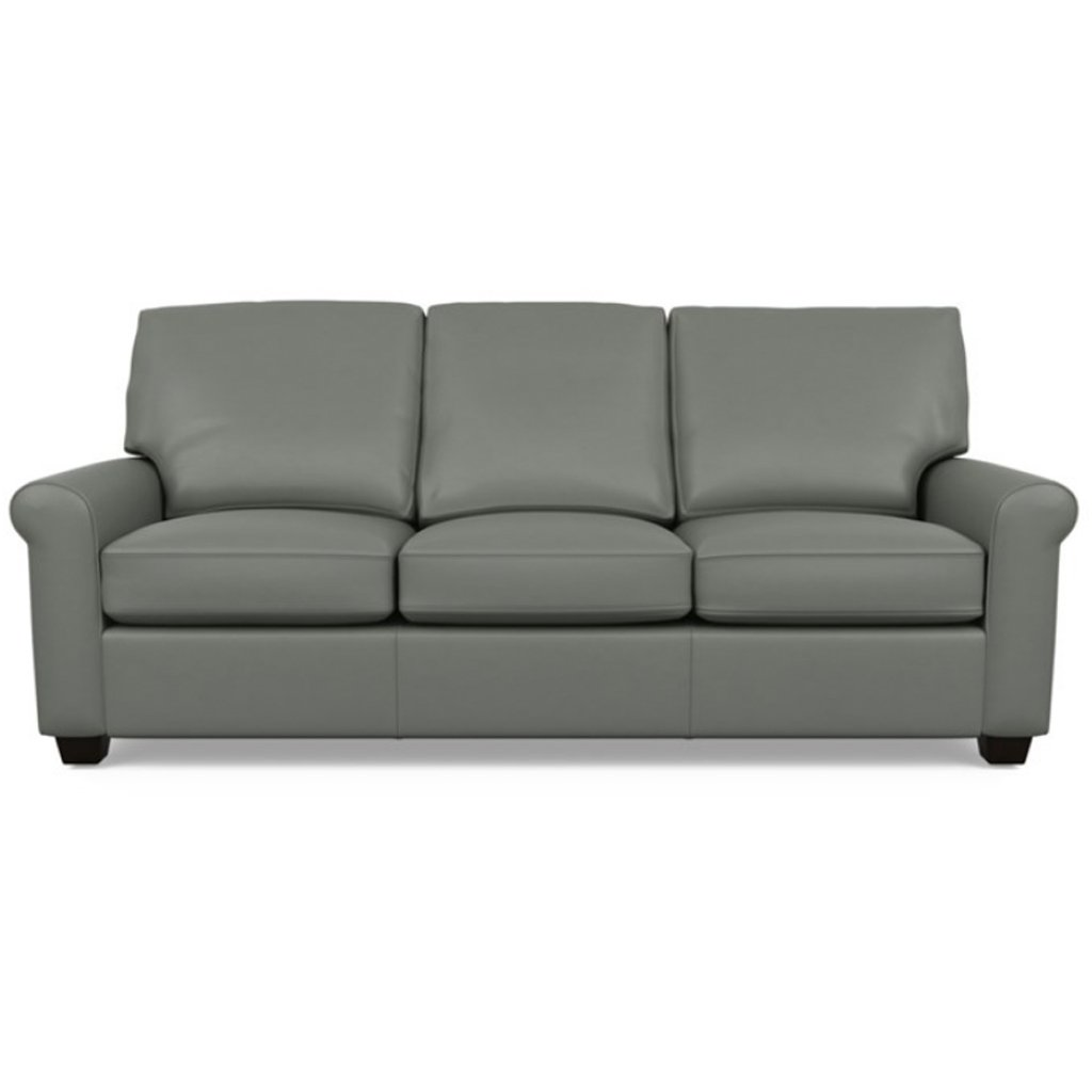 Savoy Leather Sofa by American Leather in Capri Shadow