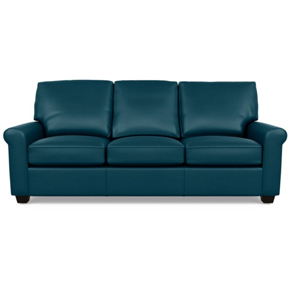 Savoy Leather Sofa by American Leather in Capri Shoreline