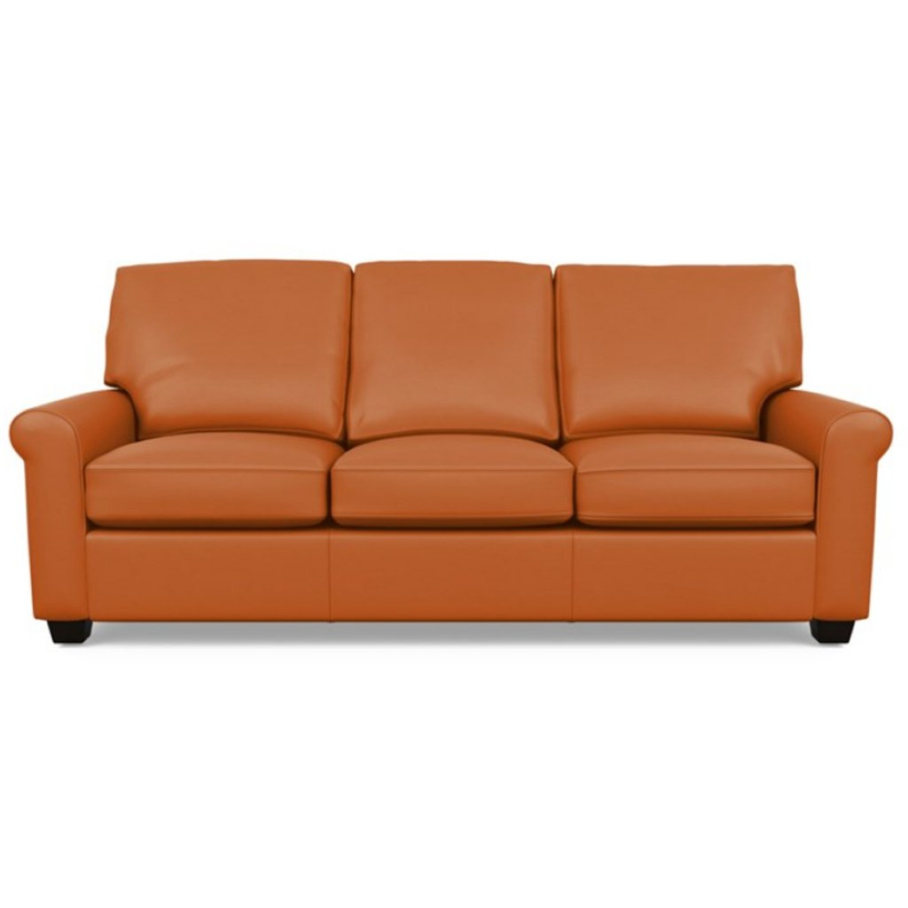 Savoy Leather Sofa by American Leather in Capri Sunrise