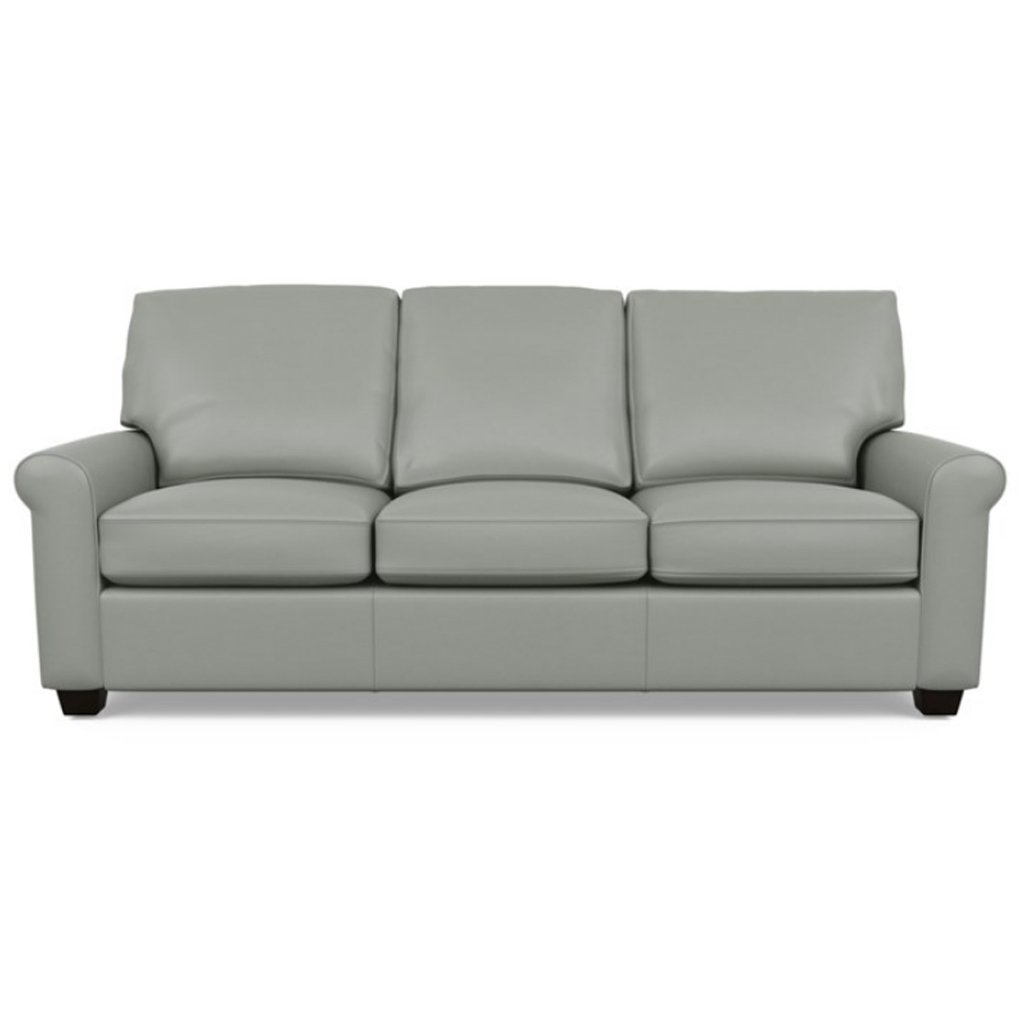 Savoy Leather Sofa by American Leather in Capri Thundercloud