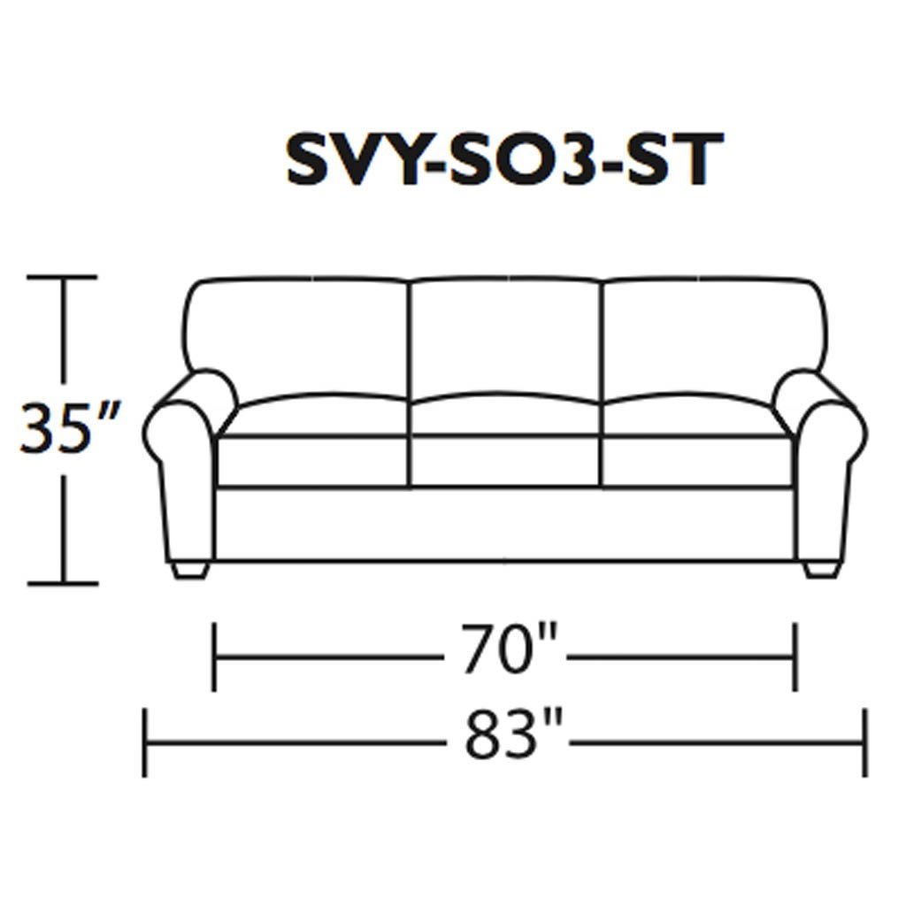 Savoy Three seat sofa measurements