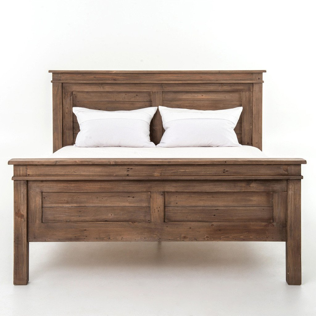 settler rustic wood bed four hands furniture
