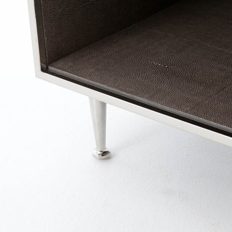 Bedside Stand shagreen bedside table - stainless – artesanos design collection