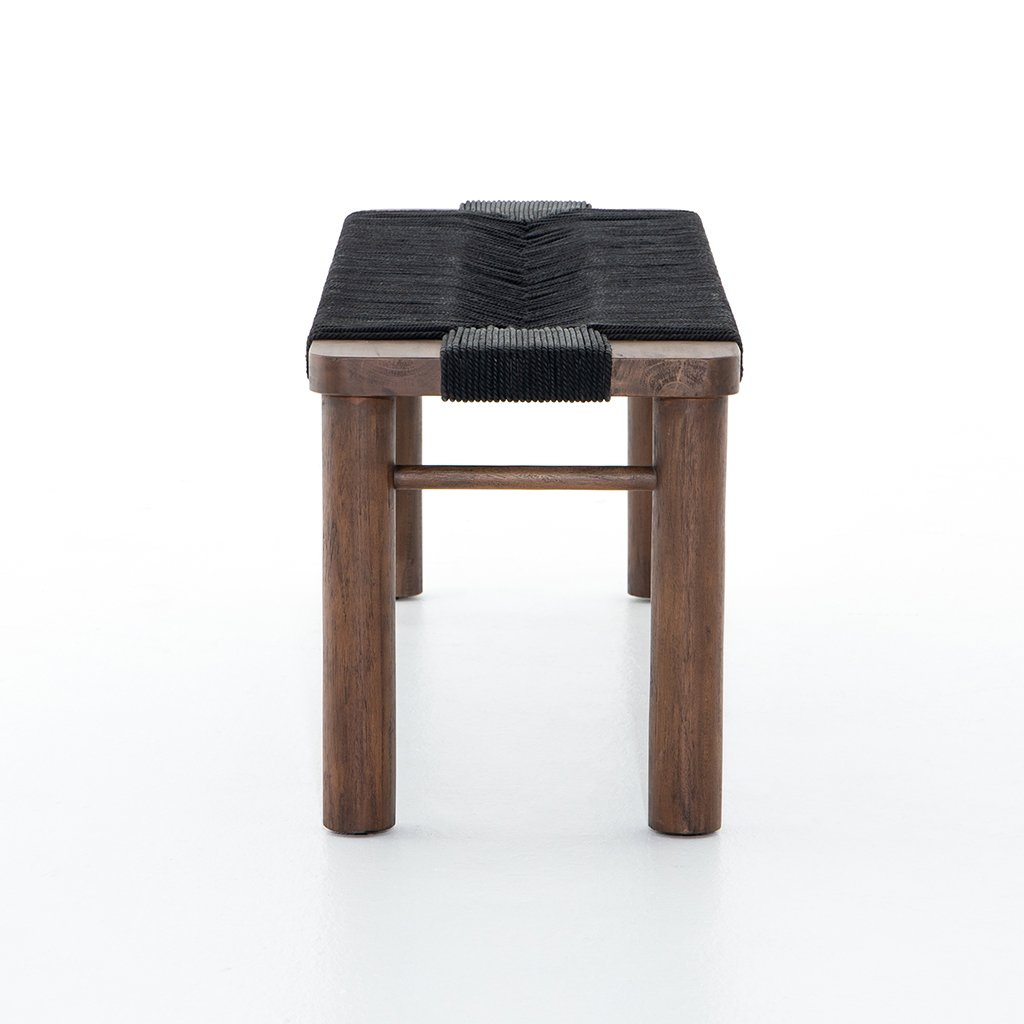 Shona Accent Bench - Matte Black JLAN-121C Side View