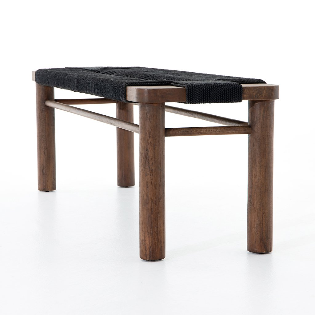 Shona Accent Bench - Matte Black JLAN-121C