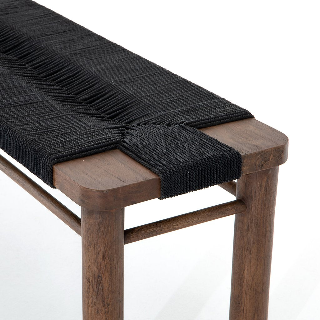 Shona Accent Bench - Matte Black JLAN-121C Seat View