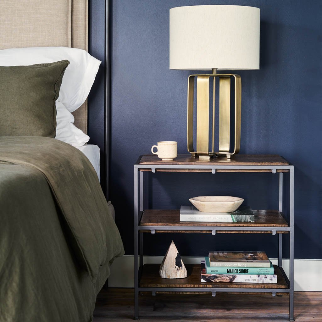 3 shelf open nightstand