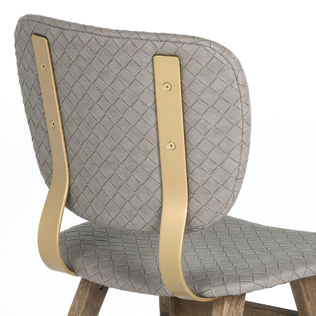 Sloan Dining Chair - Embossed Grey