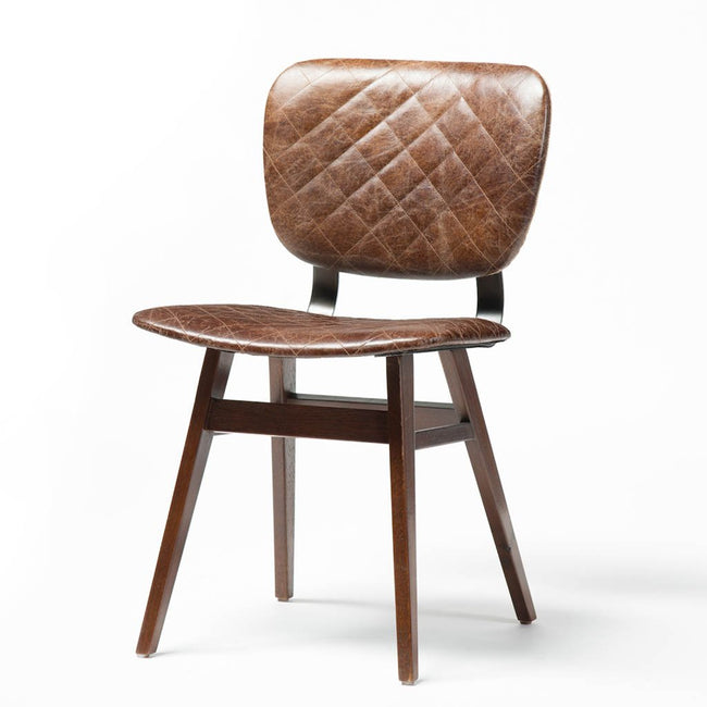 Brown Leather Sloan Dining Chair by Four Hands