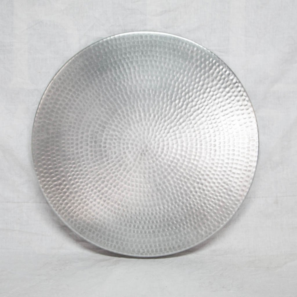 Hammered Zinc Round Tabletop - Small