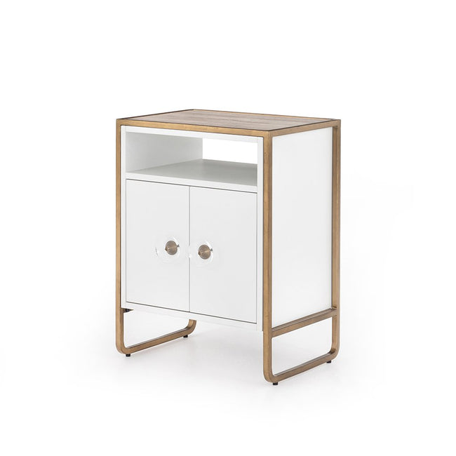 Sorella Matte White Nightstand Four Hands