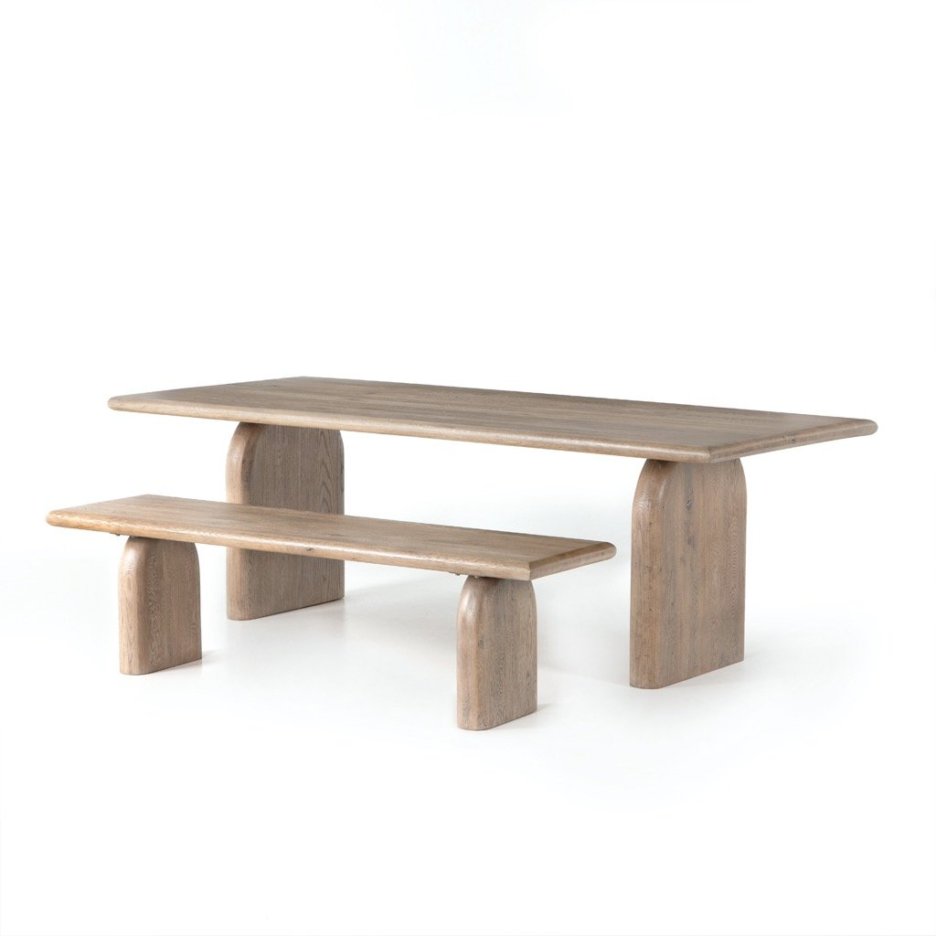 Four Hands Sorrento Dining Bench - Aged Drift Oak