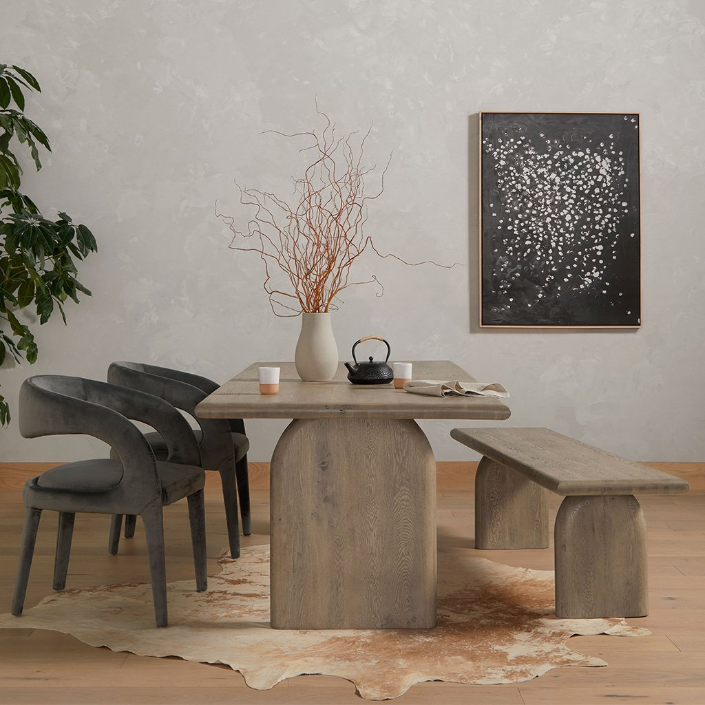 Four Hands Sorrento Dining Table - Aged Drift Oak