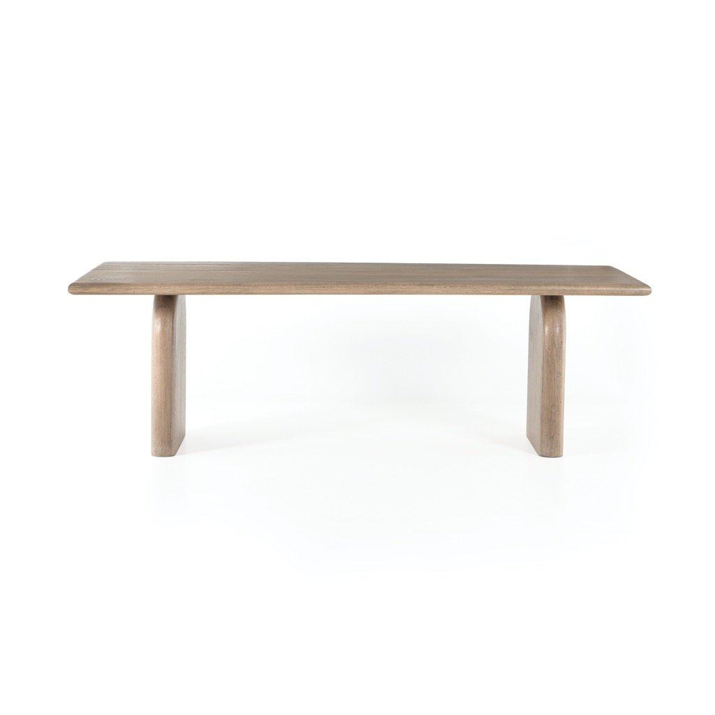 Sorrento Dining Table - Aged Drift Oak Front View