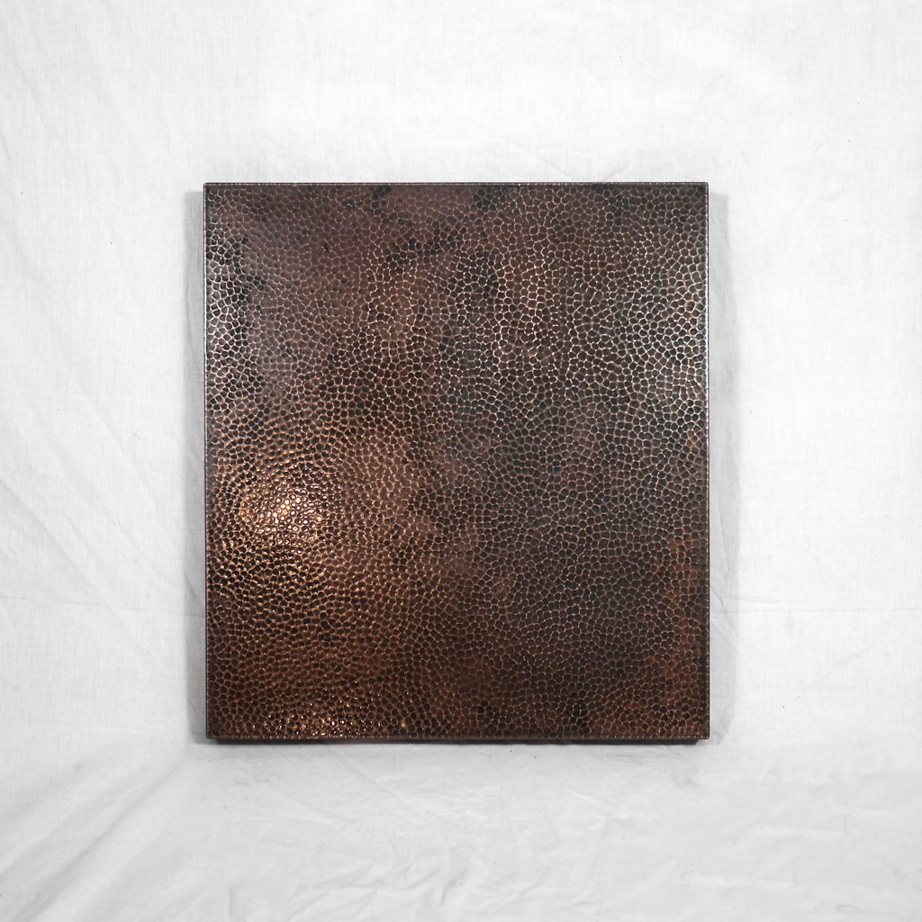 Square Copper Tabletop Dark Brown
