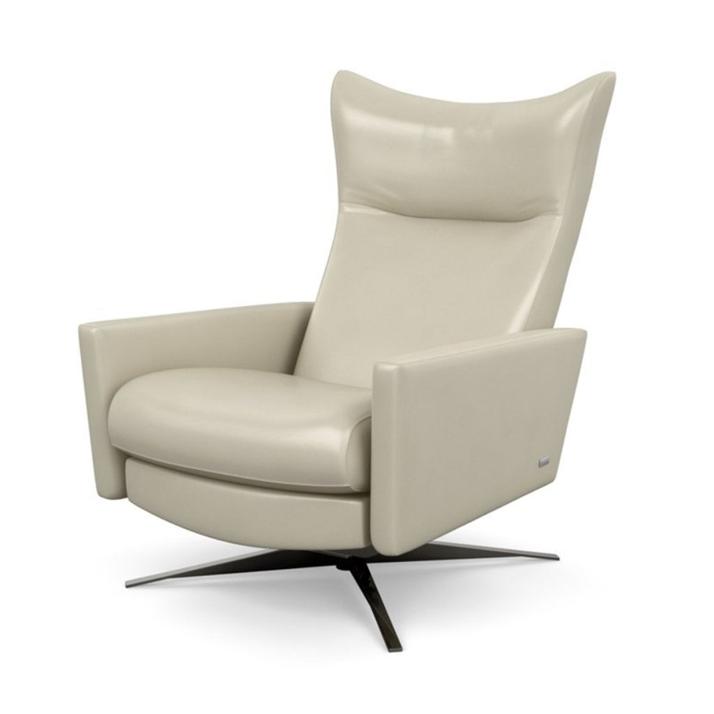 Stratus Comfort Air Recliner by American Leather Mont Blanc Ivory Leather
