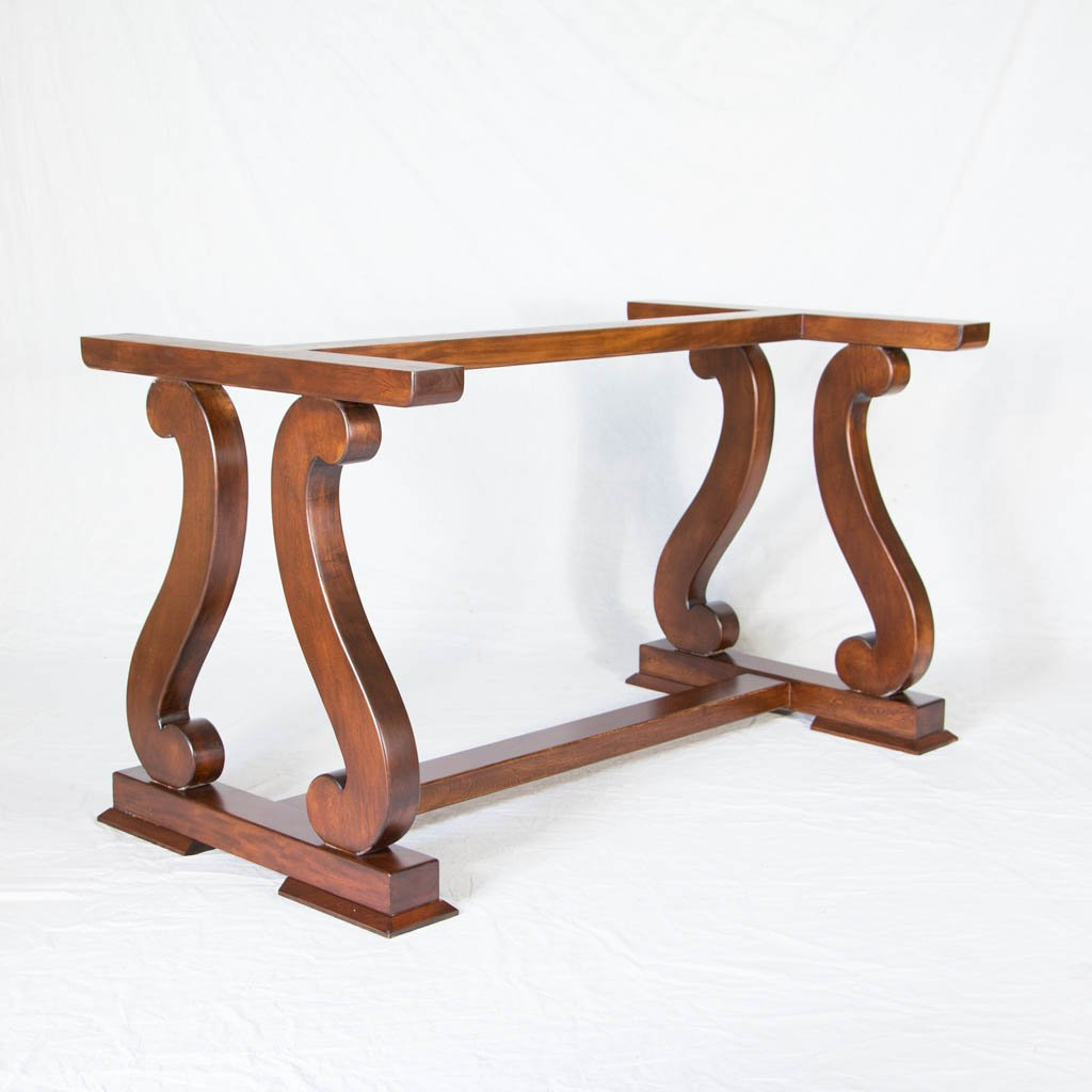 Sultan Wood Dining Table Base scroll design