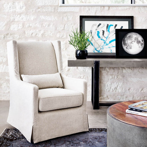 Swivel Wing Chair - Jette Linen