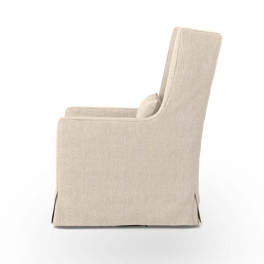 Swivel Wing Chair - Jette Linen Side