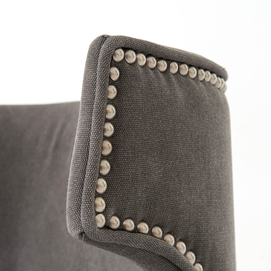 Task Chair - Dark Moon Canvas Four Hands back Rest Detail