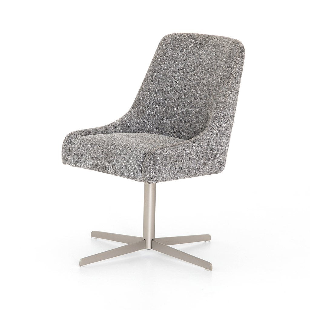Tatum Bristol Charcoal Desk Chair Corner View