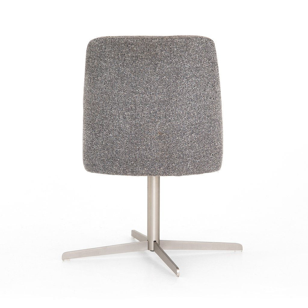 Tatum Bristol Charcoal Desk Chair Back View