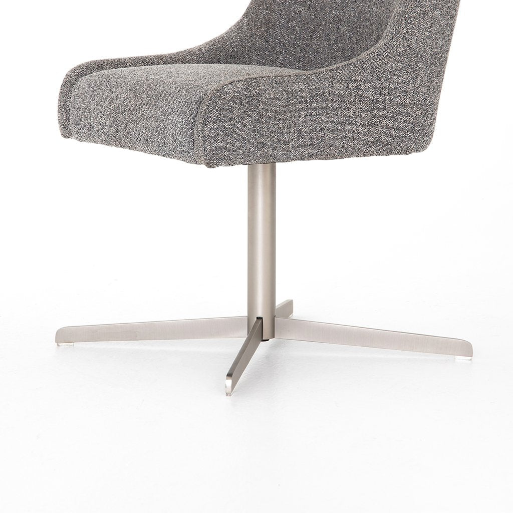 Tatum Bristol Charcoal Desk Chair Base View