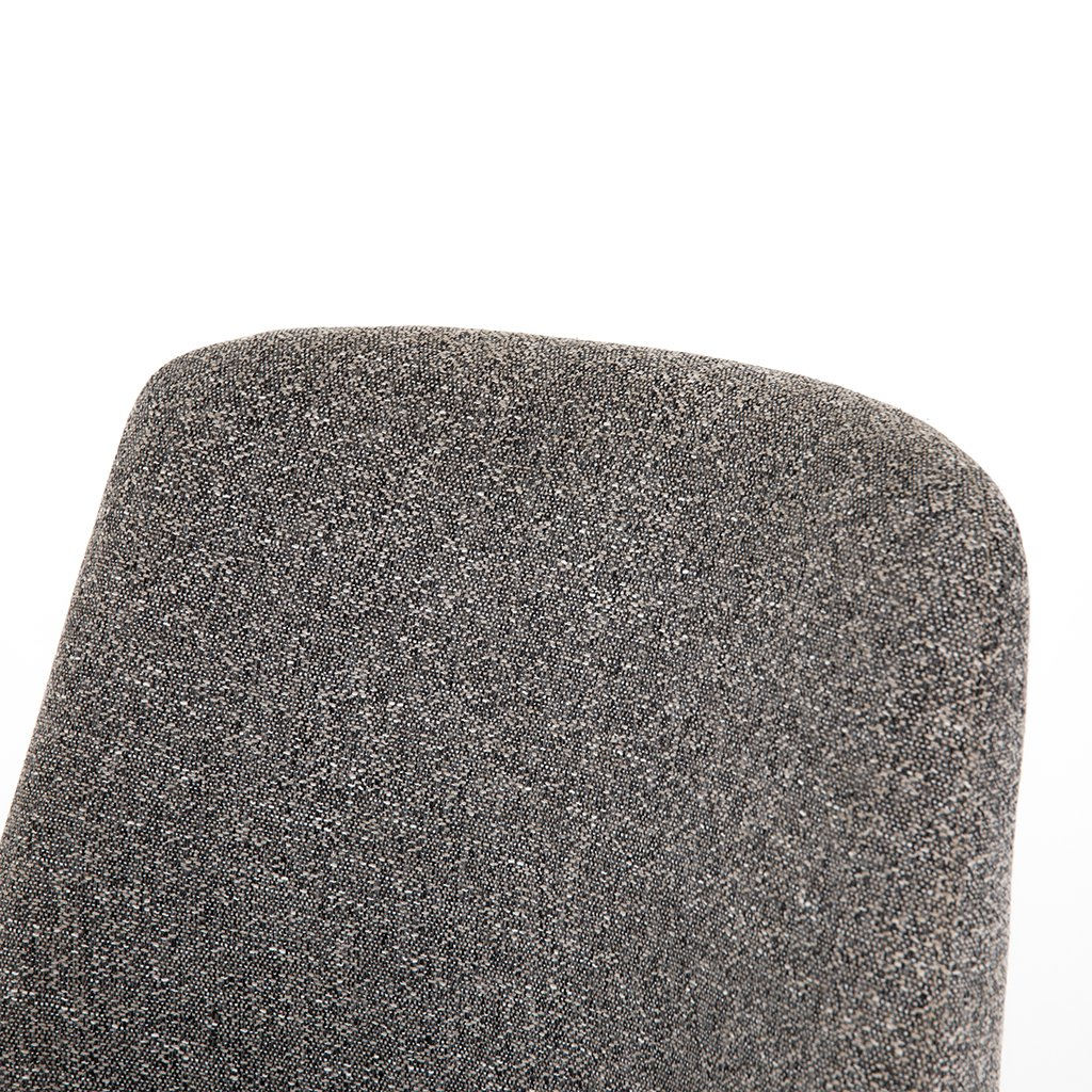 Tatum Bristol Charcoal Desk Chair Back Detail